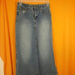 Arizona Jeans Denim Skirt Size 16R Long Modest